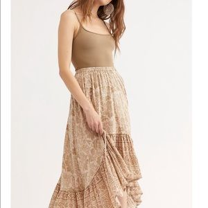 Dresses & Skirts - Lioness Ruched Maxi Skirt / Smoky